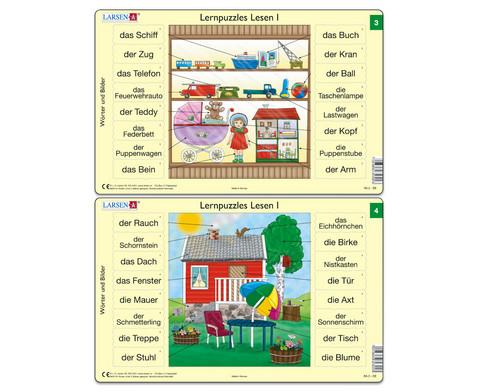 Lernpuzzle 10er- Set Lesen I-4