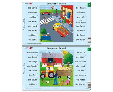 Lernpuzzle 10er- Set Lesen I-5