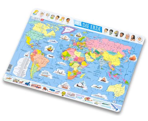 Die Erde - politisch - Puzzle-2