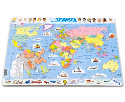 Die Erde - politisch - Puzzle-3
