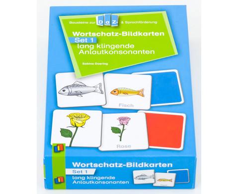 Wortschatz-Bildkarten - Set 1  lang klingende Anlautkonsonanten-1