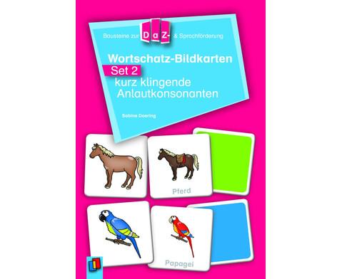 Wortschatz-Bildkarten - Set 2  kurz klingende Anlautkonsonanten-1