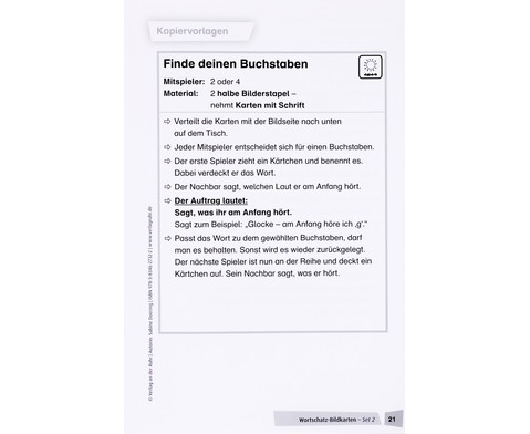 Wortschatz-Bildkarten - Set 2  kurz klingende Anlautkonsonanten-6
