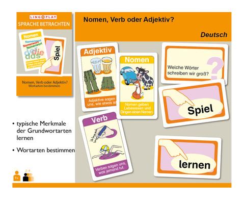 Sprache Betrachten - Nomen Verb oder Adjektiv Wortarten bestimmen-2