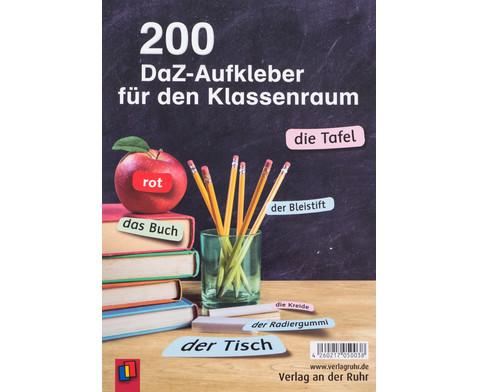 200 DaZ Aufkleber fuer den Klassenraum