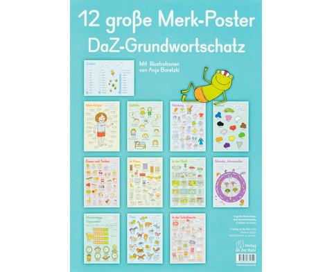 12 grosse Merk-Poster - DaZ Grundwortschatz-1