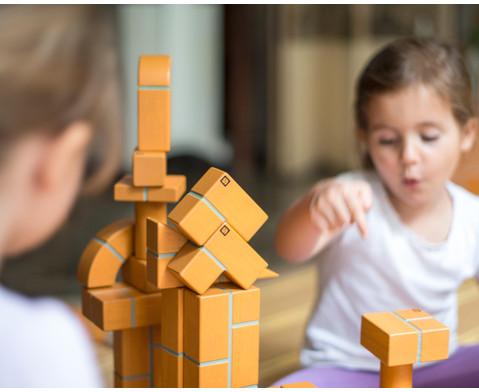 Grosse Holzbausteine Unit Bricks 100 Stueck-2