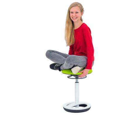 flexness high round hocker sitzh he 49 70 cm. Black Bedroom Furniture Sets. Home Design Ideas