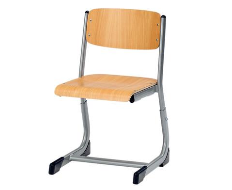 Schuelerstuhl hoehenverstellbar offener Sitztraeger