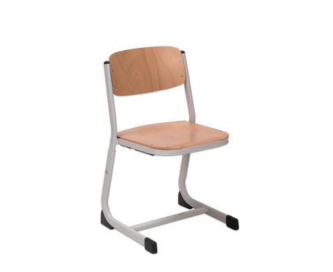 Schuelerstuhl hoehenverstellbar geschlossener Sitztraeger