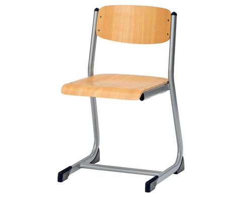 Schuelerstuhl offener Sitztraeger Sitzhoehe 38 cm