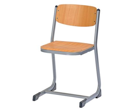 Schuelerstuhl geschlossener Sitztraeger Sitzhoehe 34 cm