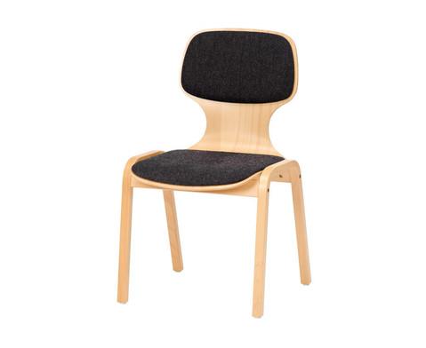 Holzstuhl mit Sitz- und Ruecken-Polster