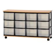 Container-System mit Holz-Ablage & 12 großen Schüben