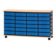 Container-System mit Holz-Ablage, 24 kleine Schübe