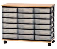 Container-System mit Holz-Ablage, 18 kleine Schübe