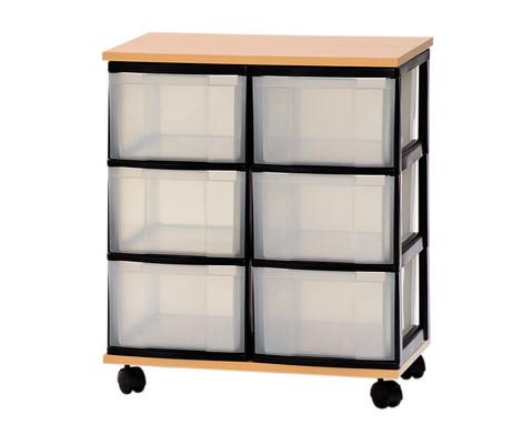 Container-System mit Holz-Ablage 6 grosse Schuebe-1