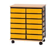 Container-System mit Holz-Ablage, 12 kleine Schübe