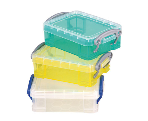 Mini-Container 3er Set transparent gelb tuerkis-1