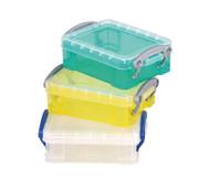 Mini-Container 3er Set, transparent, gelb, türkis