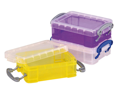 Mini-Container 3er Set  transparent gelb lila-1