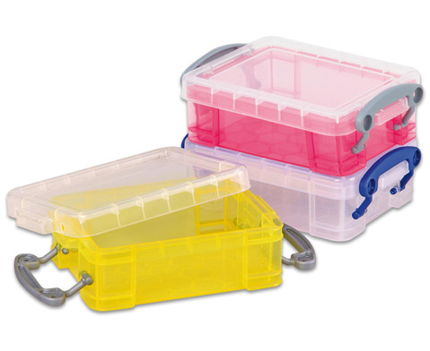 Mini-Container 3er Set  transparent gelb lila-2
