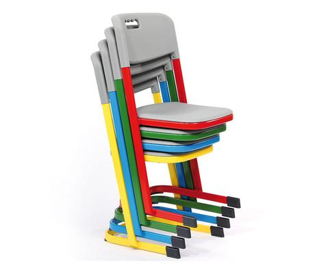 Luftpolster-Schuelerstuhl mit U-Fuss Sitzhoehe 38 cm Stahlfarbe