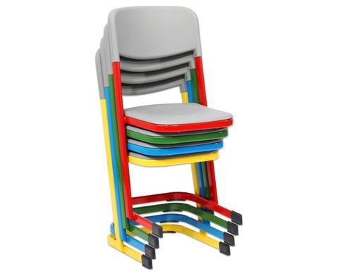 Luftpolster-Schuelerstuhl mit U-Fuss Sitzhoehe 46 cm