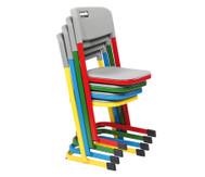 Luftpolster-Schülerstuhl mit U-Fuß, Sitzhöhe 46 cm, Stahlfarbe: