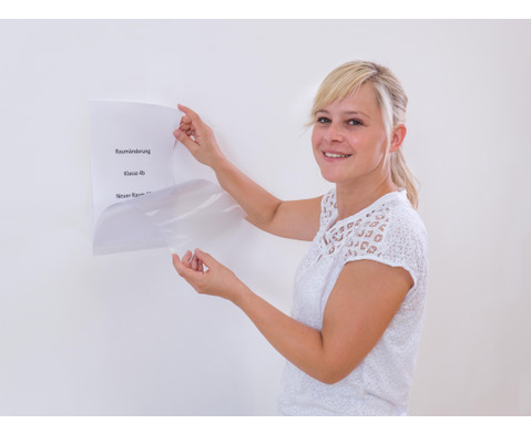Selbstklebende DIN-A4 Infotasche transparent-2