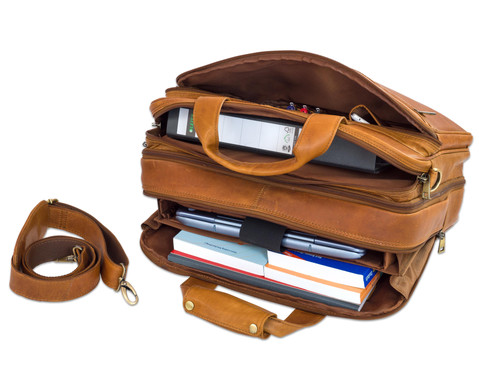 Umhaengetasche Ludwig Leder braun Notebookfach-5