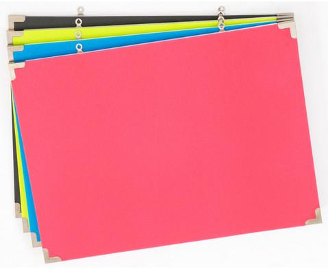 Schaumstoff-Pinnwaende45x60cm 4 Farben im Set