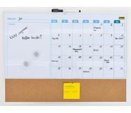 Whiteboard Monatsplaner mit Pinnwand, inkl. 2 Magneten und 1 Marker