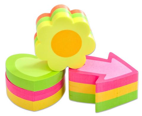 Haftnotiz-Set Herz Pfeil Blume je 225 Blatt