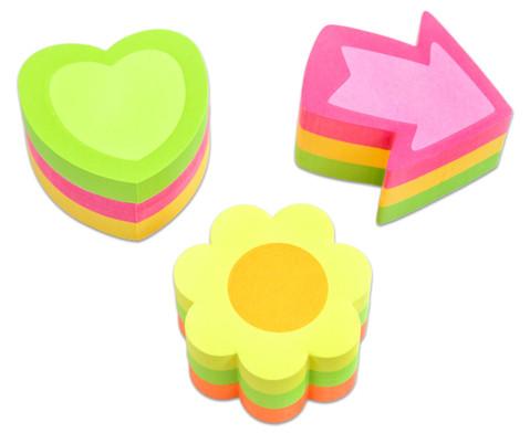 Haftnotiz-Set Herz Pfeil Blume je 225 Blatt-3