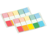 Haftmarker transparent, 5 Farben, 2 x 100 Blatt