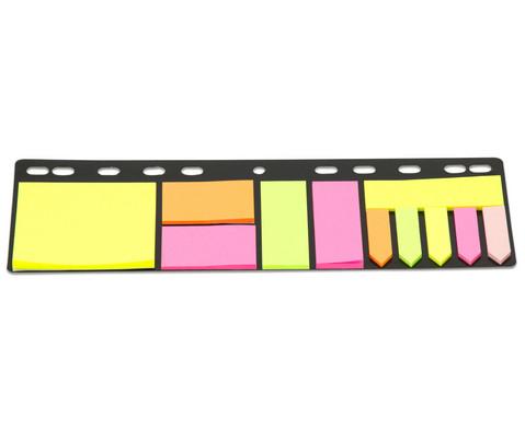 Haftnotiz-Set mit Abheftleiste Hoehe A4 11 x 25 Blatt-1