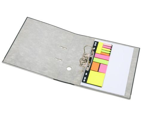 Haftnotiz-Set mit Abheftleiste Hoehe A4 11 x 25 Blatt-2