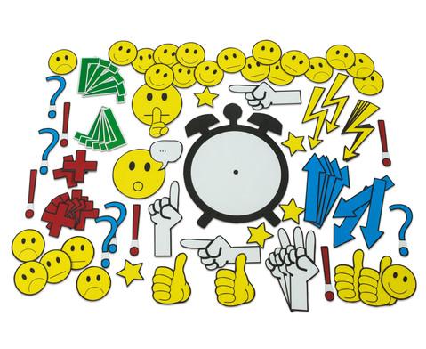 Magnetische Emoticons und Diskussionssymbole fuer die Tafel 91 Teile