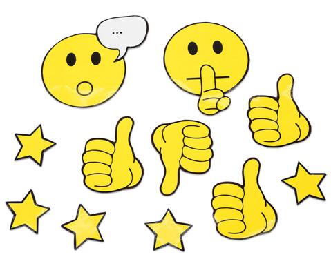 Magnetische Emoticons und Diskussionssymbole fuer die Tafel 91 Teile-4