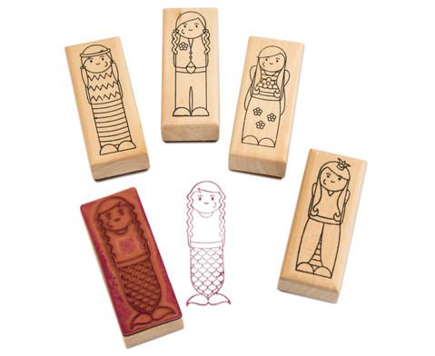 Holzstempel Maedchen oder Jungs 5-teilig-3