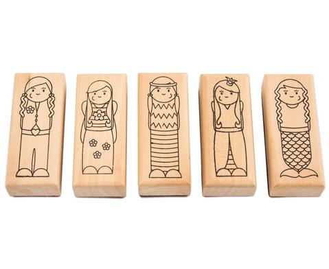 Holzstempel Maedchen oder Jungs 5-teilig-4