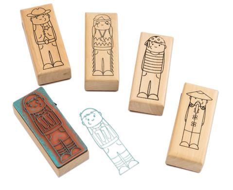 Holzstempel Maedchen oder Jungs 5-teilig-5