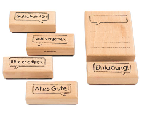 Holzstempel Message 6-teilig-2