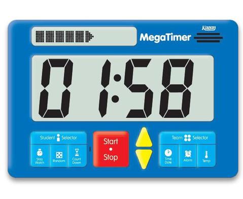 Zeitdauer-Uhr Digital Mega-1
