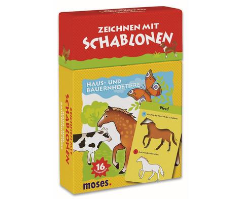 Zeichnen mit Schablonen Haus- und Bauernhoftiere-1