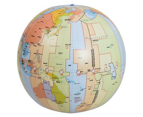Zeitzonenglobus aufblasbar-1