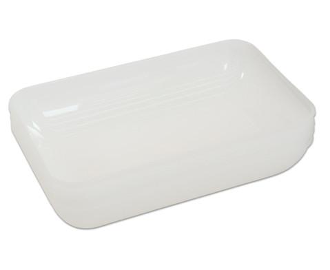 Milchweisse Materialschalen gross 5 Stueck