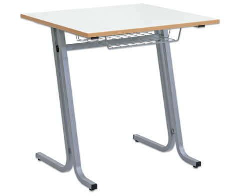 Schueler-Einzeltisch swing Tischplatte  75 x 65 cm