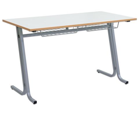 Schueler-Zweiertisch swing Tischplatte  130 x 65 cm